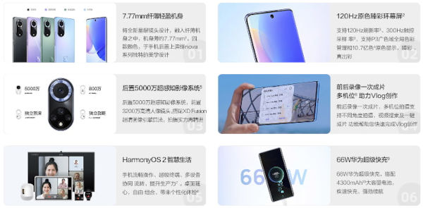 Huawei nova 9 specs and features