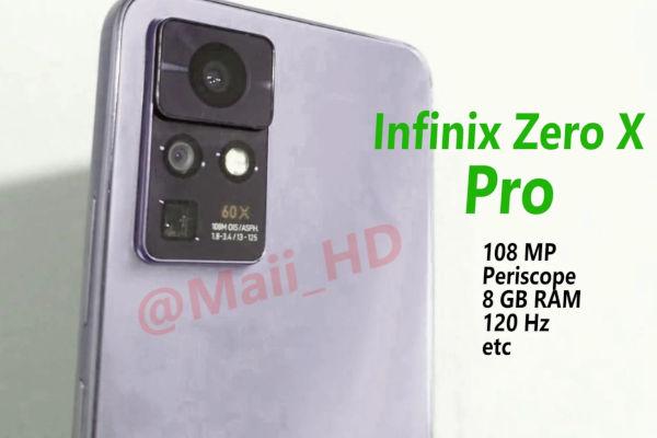 Infinix Zero X Pro live shot reveals camera setup