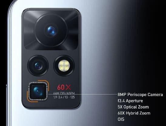 Infinix Zero X cameras