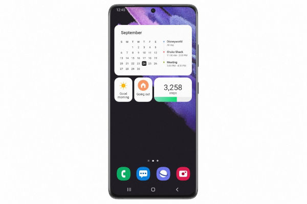 One UI 4 homescreen and new widgets Image by Samsung