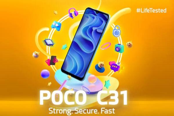 POCO C31 launched 1