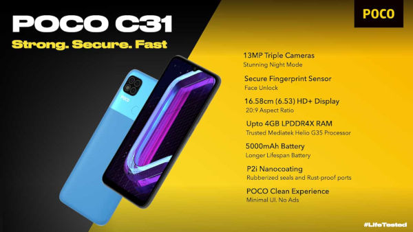 POCO C31 launched