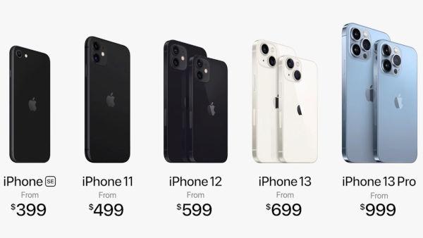 Prices of iPhones