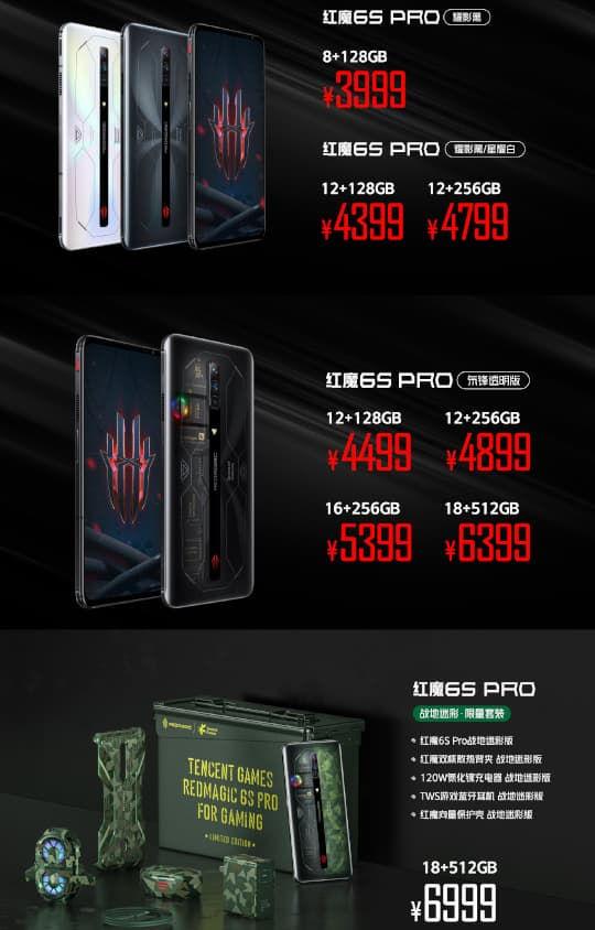 REDMAGIC 6S Pro price