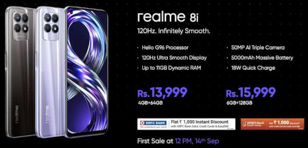 Realme 8i price