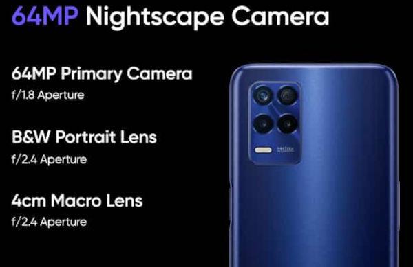 Realme 8s 5G cameras