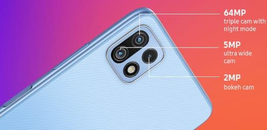 Samsung Galaxy F42 5G cameras