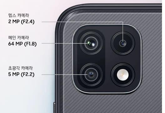 Samsung Galaxy Wide5 cameras