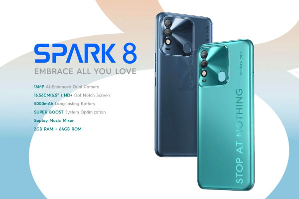 Tecno Spark 8 launched