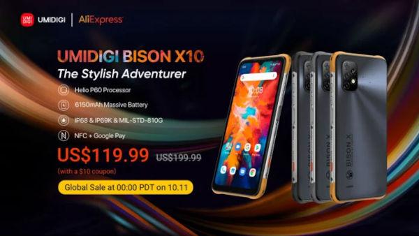 UMIDIGI Bison X10 series price on Aliexpress