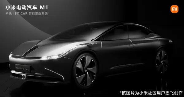XIAOMI ELECTRIC CAR M1 RENDERS 2