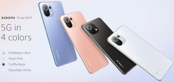Xiaomi 11 Lite 5G NE in colors 1