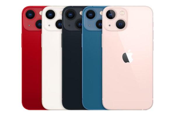 iPhone 13 mini in colors
