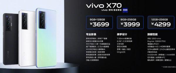 vivo X70 price