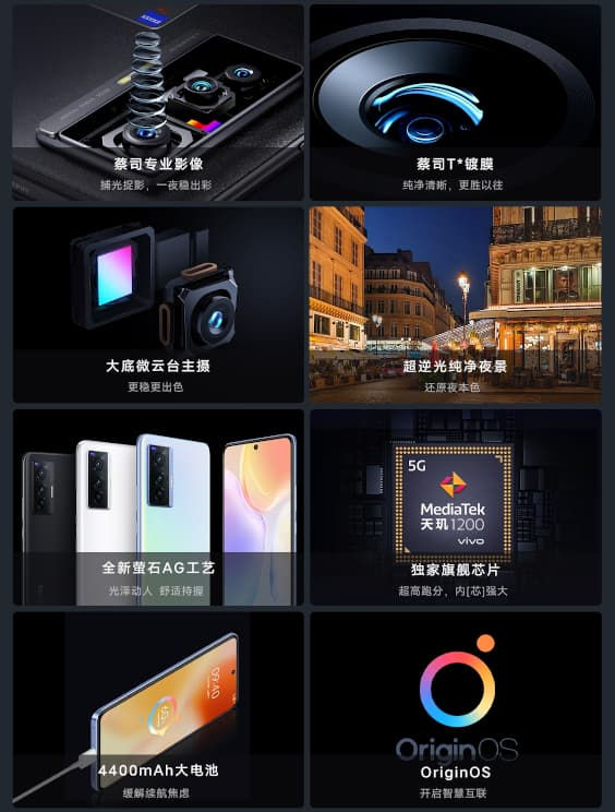 vivo X70 specs and features