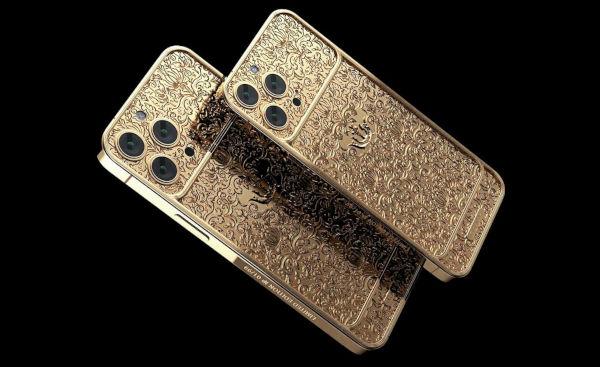 Caviar Gold encased iPhone 13 Pro