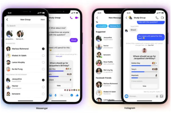 Cross App Group Chats in FB Messenger and Instagram DM 1