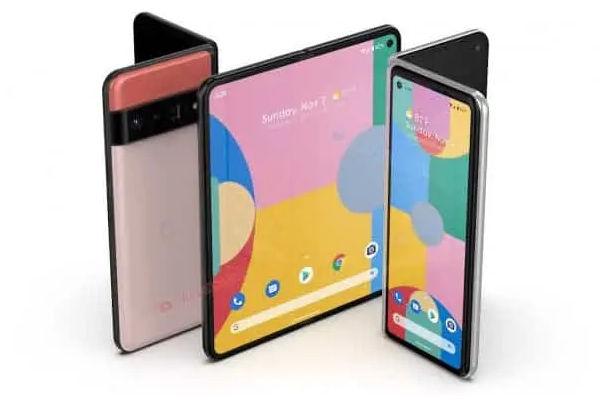 Google Foldable Smartphone render