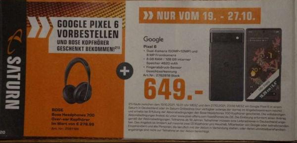 Google Pixel 6 pricing revealed