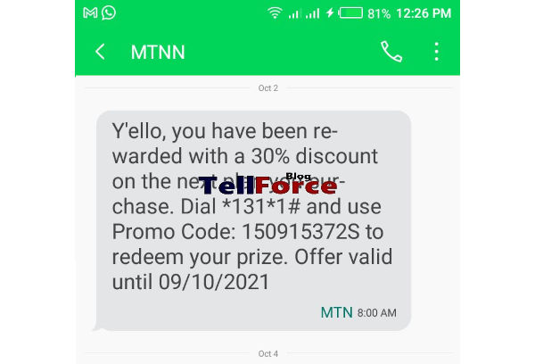MTN Launches Promotional Data Offer Enjoy 30 percent Discount