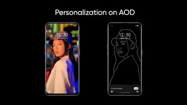 Realme UI 3 Portrait Silhouette AOD