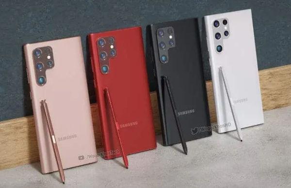 Samsung Galaxy S22 ultra renders 3