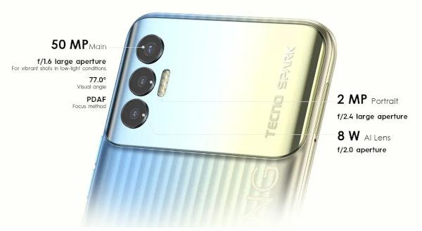 Tecno Spark 8P cameras